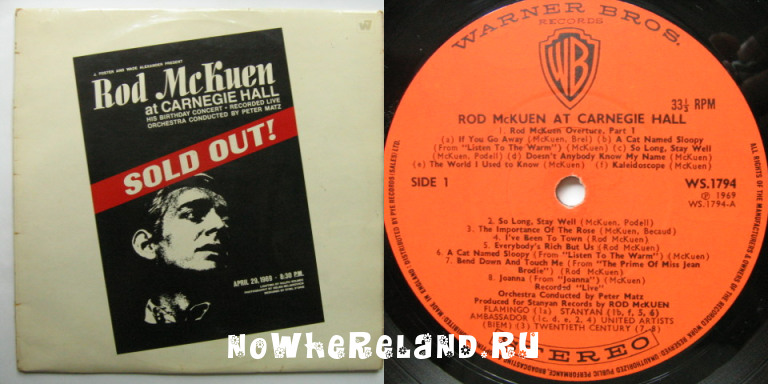 MCKUEN,Rod Sold out!