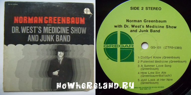 GREENBAUM,Norman Dr.West's Medicine Show And Junk Band