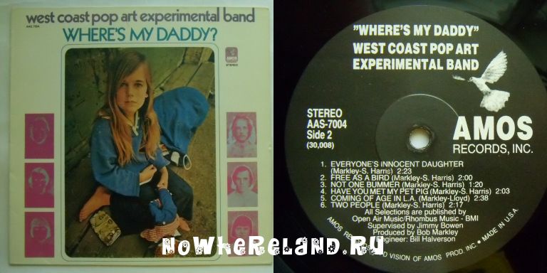 WEST COAST POP ART EXPERIMENTAL BAND Where is My Daddy