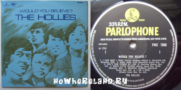 HOLLIES,The Would You Believe