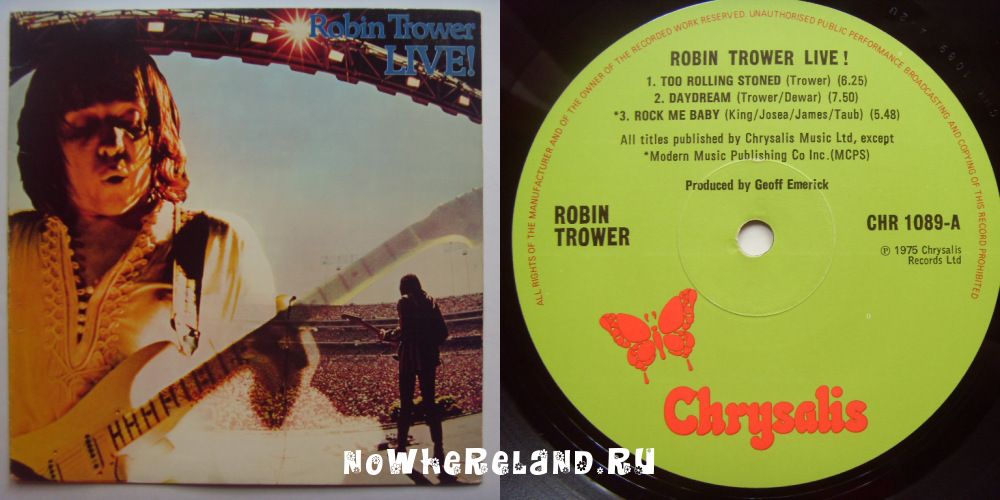 TROWER,Robin Live!