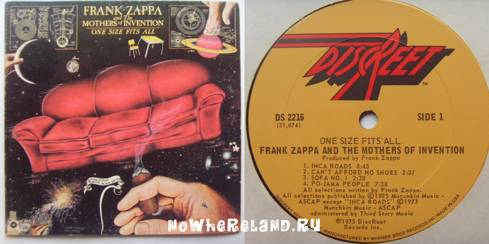 ZAPPA & THE MOTHERS OF INVETION One Size Fits All