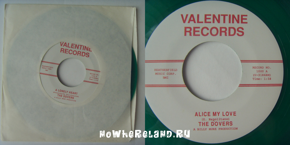 DOVERS Alice my love / A lonely heart