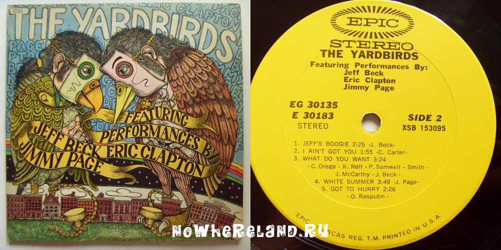 YARDBIRDS The Yardbirds featuring performances by Jeff Back, Eric Clapton, Jimmy Page.