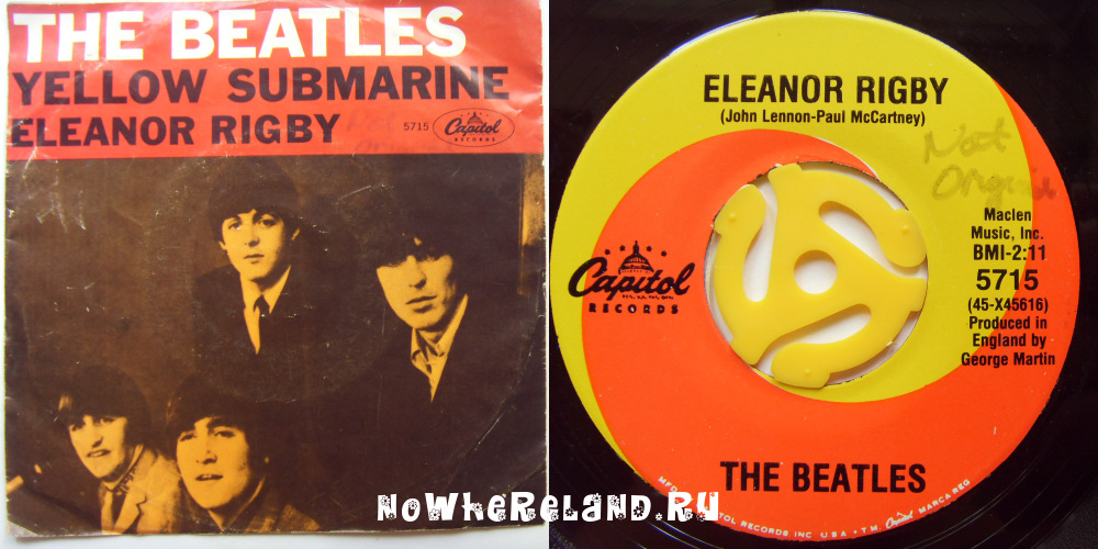 BEATLES Yellow Submarine / Eleanor Rigby