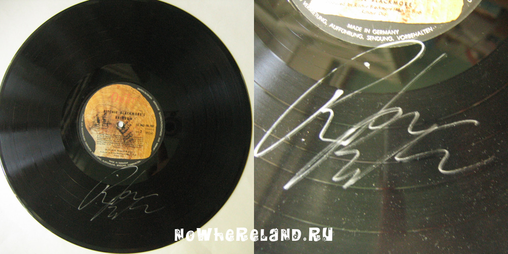 RAINBOW Ritchie Blacmore's Rainbow AUTOGRAPHED by Blackmore!