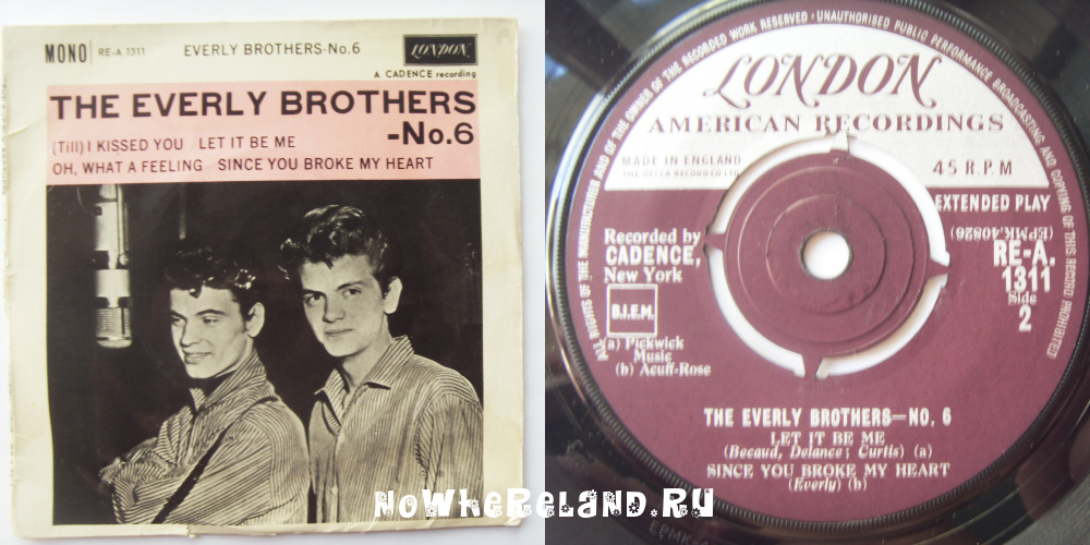EVERLY BROTHERS, THE No.6 — No. Six