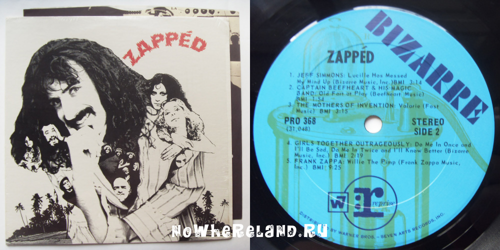 ZAPPA, MOTHERS, CAPTAIN BEEFHEART, ALICE COOPER  Zapped
