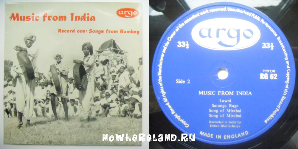 MUSIC FROM INDIA Songs from Bombay