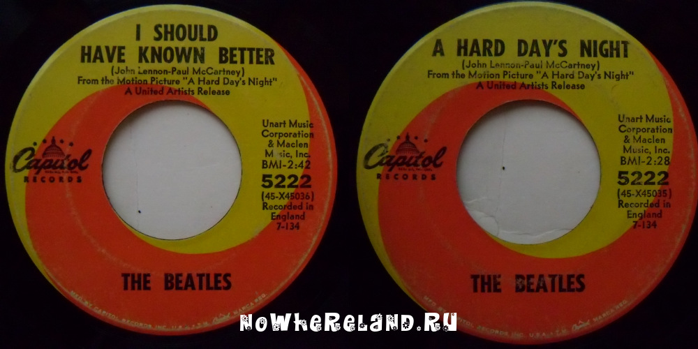 BEATLES A Hard Day's Night / I Should Have Known Better