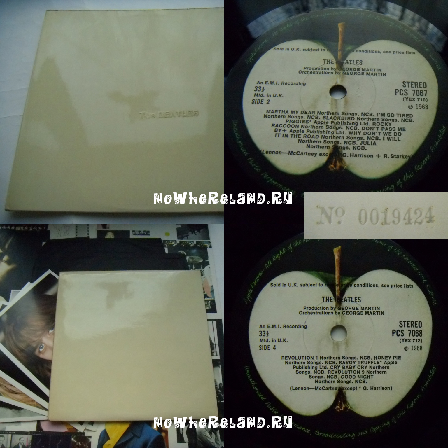 BEATLES The Beatles (White Album, No 19424, XP tax code)