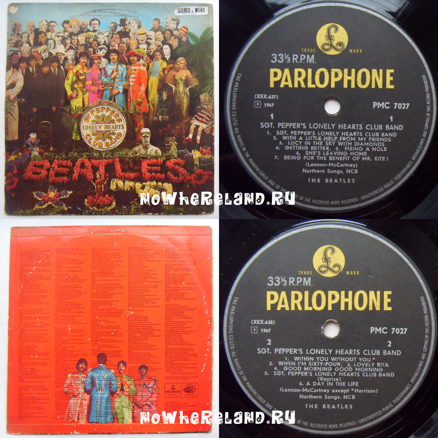 BEATLES Sgt. Pepper's Lonely Hearts Club Band Stereo & mono