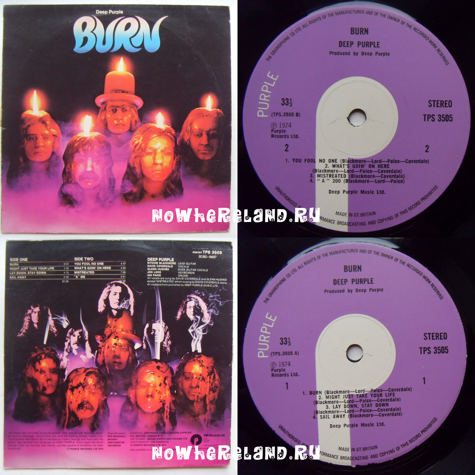 DEEP PURPLE Burn first press
